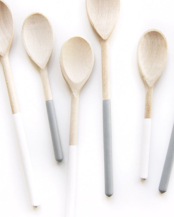 Dipped Gray Wood Spoon Trio - Willful Goods