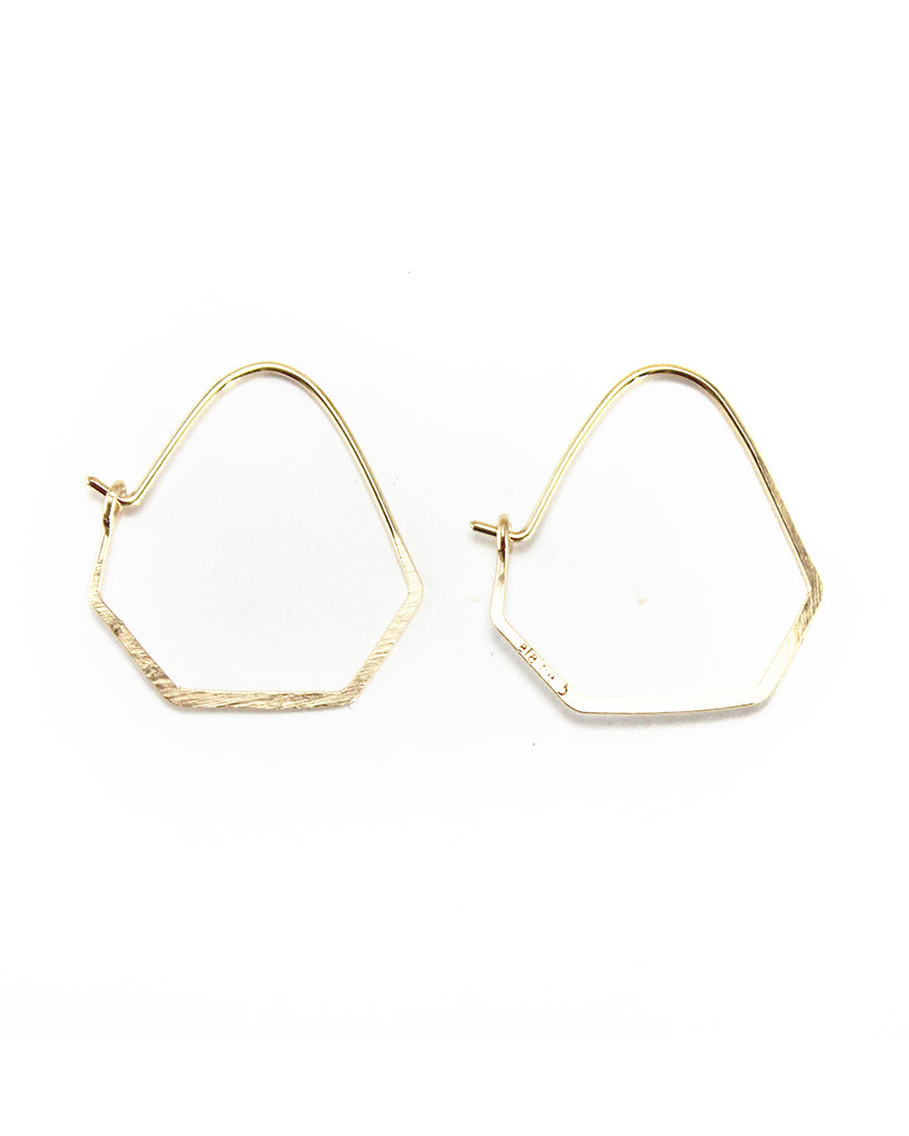 Elaine B. Jewelry Simple Faceted Hoop Earrings - Elaine B. Jewelry