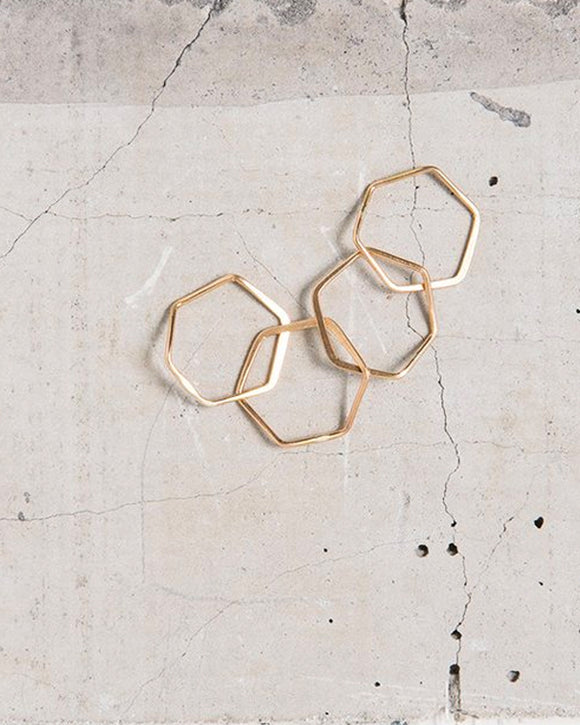 Hexagon Nest Ring | Elaine B. Jewelry