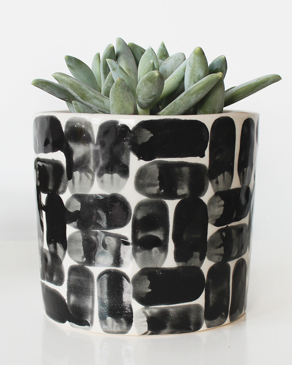 Black & White Brick Planter | Elizabeth Benotti