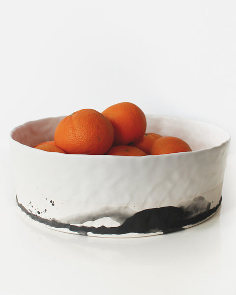 Elizabeth Benotti White & Splatter Large Serving Bowl - Elizabeth Benotti