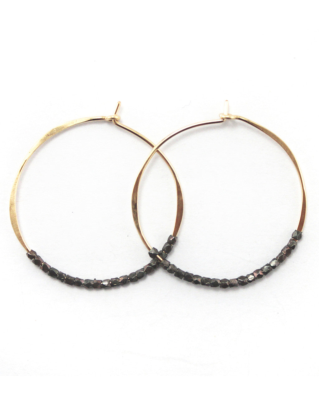 Faceted Bead Hoop Earrings | Fail Jewelry