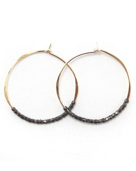 Fail Jewelry Faceted Bead Hoop Earrings