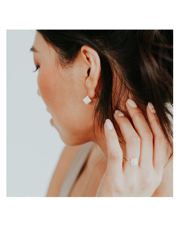 Cubic Hoop Earrings | Favor Jewelry