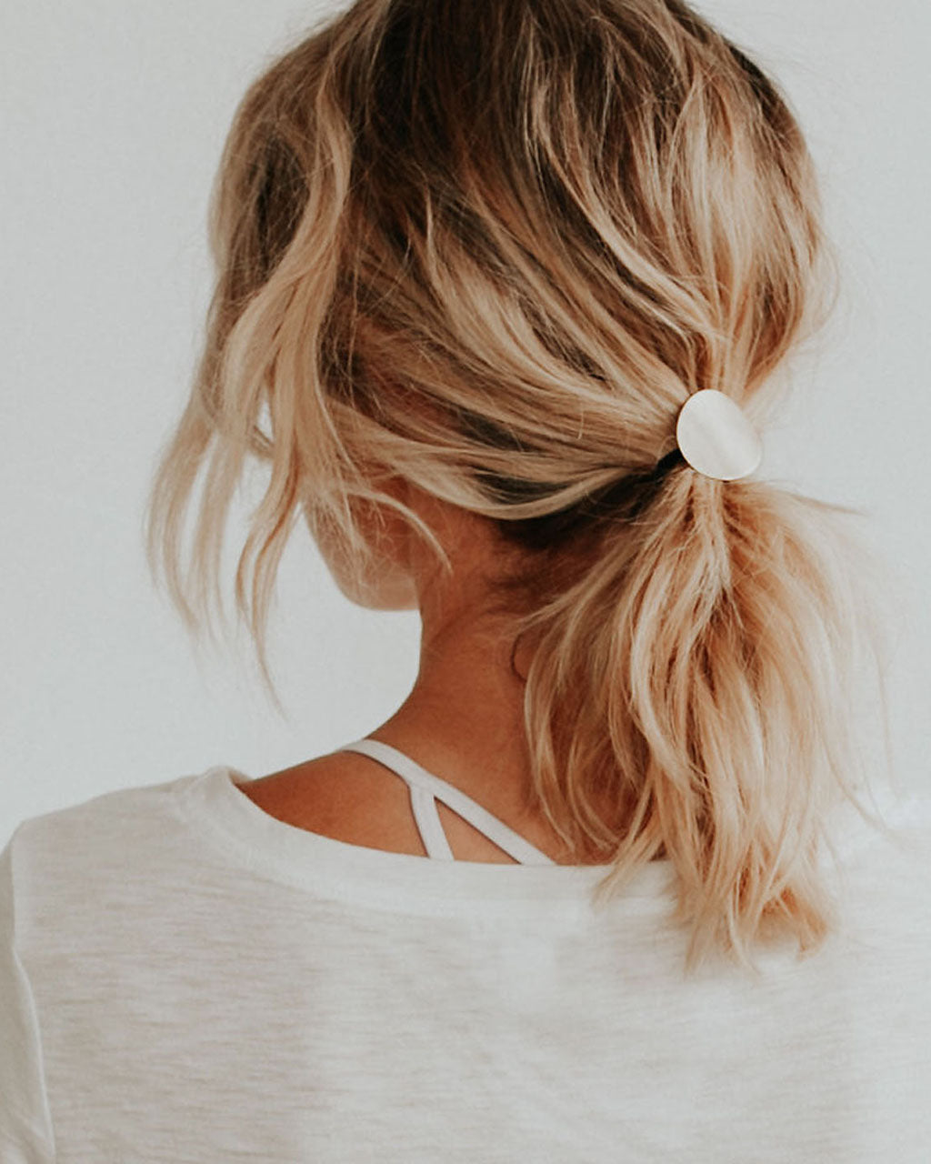 Geometric Disc Ponytail Hair Tie