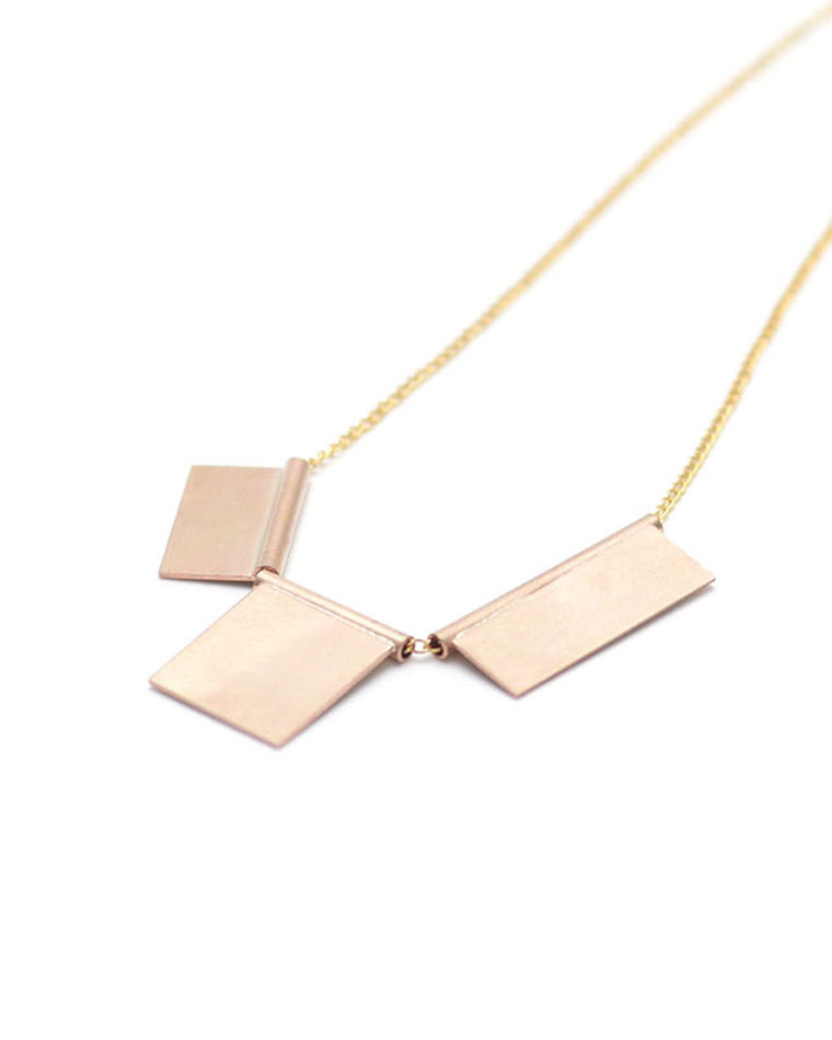 Geometric Tile Necklace