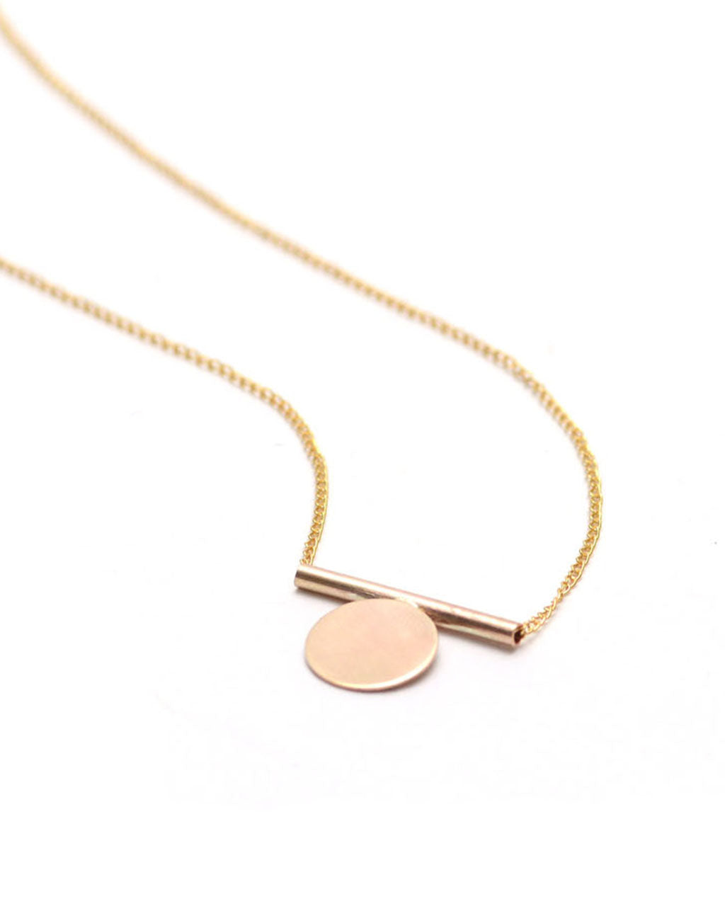 minimal en tiny product necklace gold coins disk choker