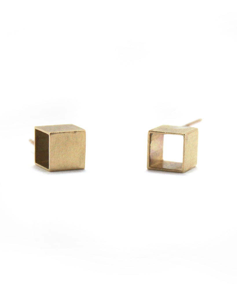 Mod Evil Simple Cube Stud Earrings - Mod Evil