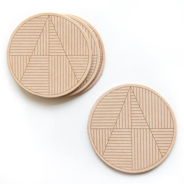 Molly M. Designs Sol Leather Coasters - Molly M. Designs