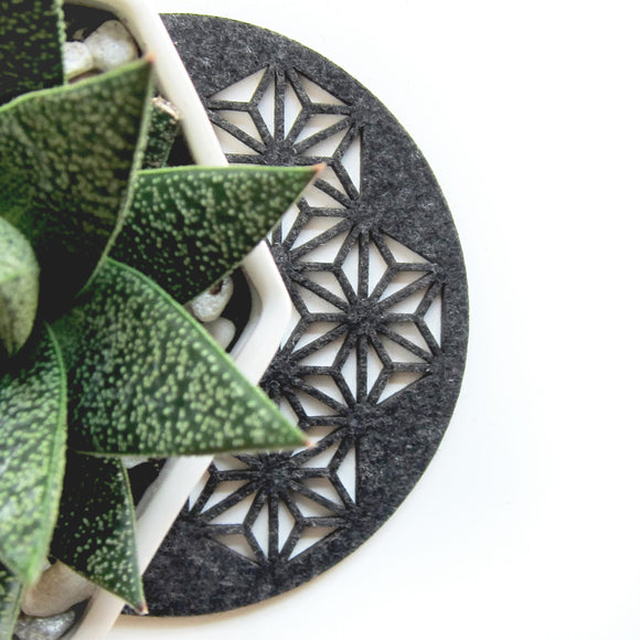 Triangulate Gray Felt Trivet | Molly M. Designs