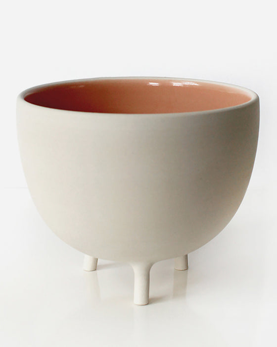 Blush Pink Tripot Serving Bowl | Pigeon Toe