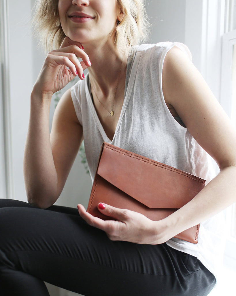 Pike Leather Envelope Clutch - Pike Leather