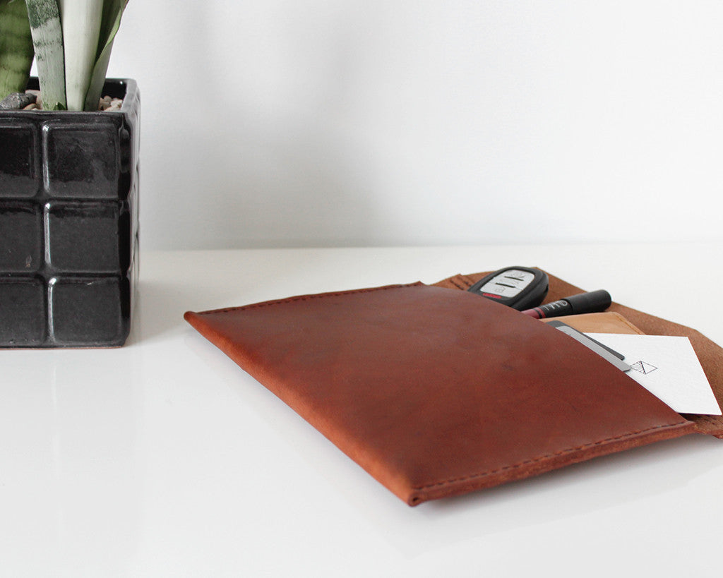 Pike Leather Envelope Clutch