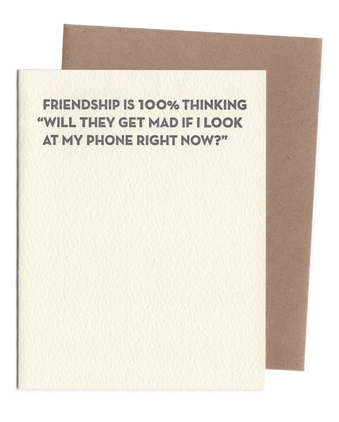 Sapling Press Friendship / Phone Notecard - Sapling Press