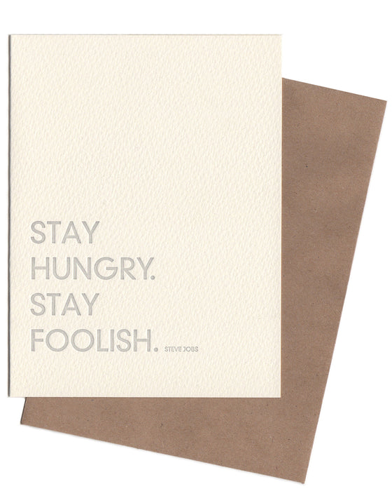 Sapling Press Stay Hungry, Stay Foolish Notecard - Sapling Press