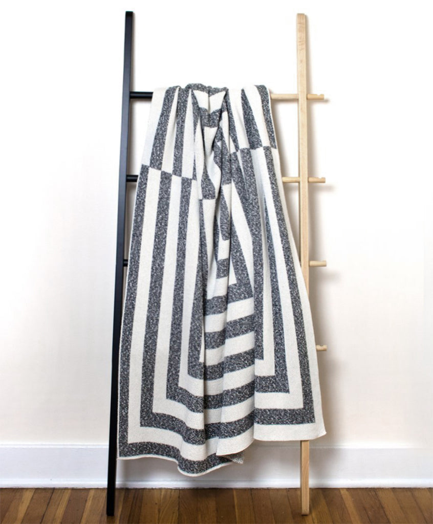 Marled Gray & White Aquino Patterned Throw Blanket | Savannah Hayes
