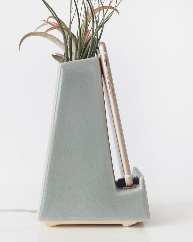 Stak Ceramics Gray Vase Phone Dock - Stak Ceramics