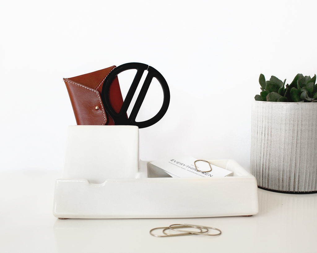 White Valet Phone Dock | Stak Ceramics