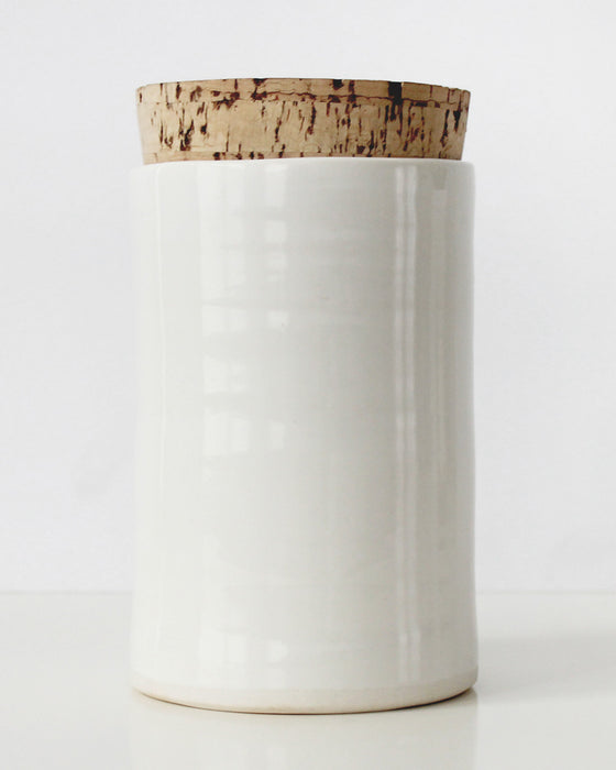 Large Corked Canister | Vitrifiedstudio