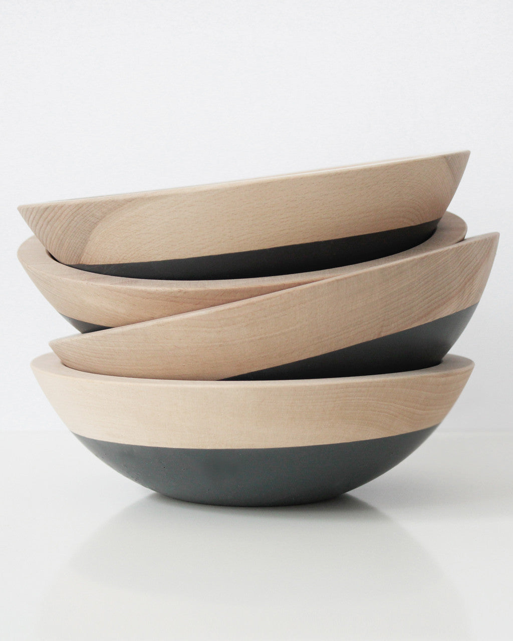Dipped Dark Gray Wood Snack Bowl | Willful Goods
