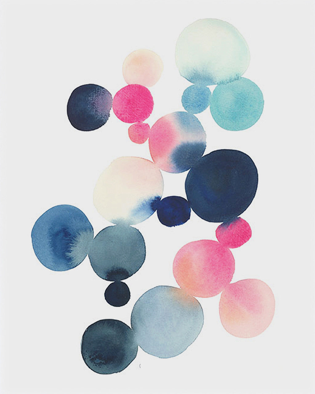 "Cluster in Blue & Magenta 11""x14"" Print 