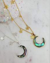 Load image into Gallery viewer, Starry Abalone Moon Necklace