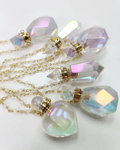 Angel Aura Essential Oil Bottle Necklace | choose your style
