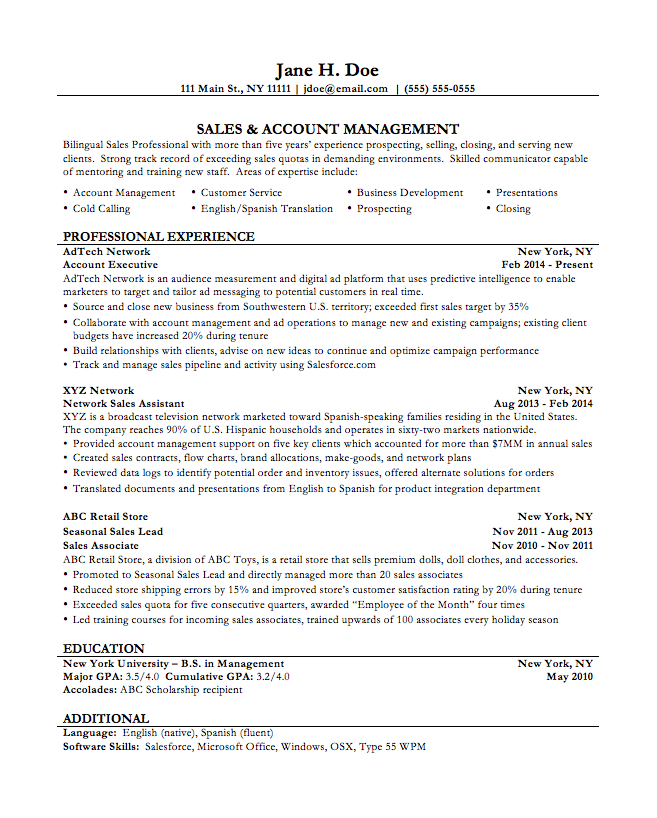 High School Teacher Resume Examples