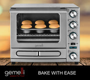 The Gemelli Twin Convection Oven Makes Baking Muffins An Easy Task