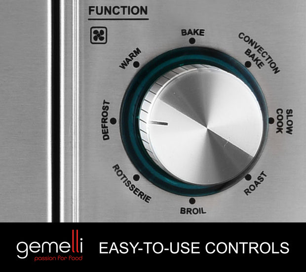 The Gemelli Oven Features Easy To Use Controls