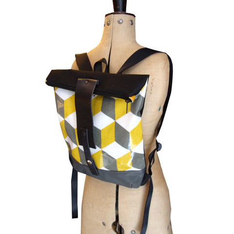 Yellow and black LUPITA BACKPACK