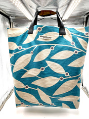 Blue and beige SHOPPER