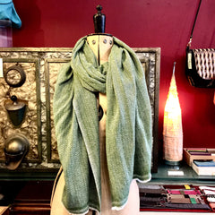 Large green Cashmere Shawl