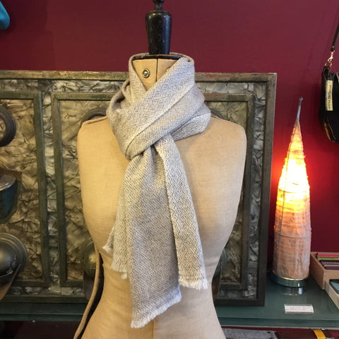 Diamond grey Cashmere scarf