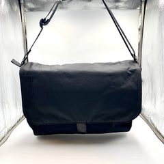 Black and grey Harajuku computer bag