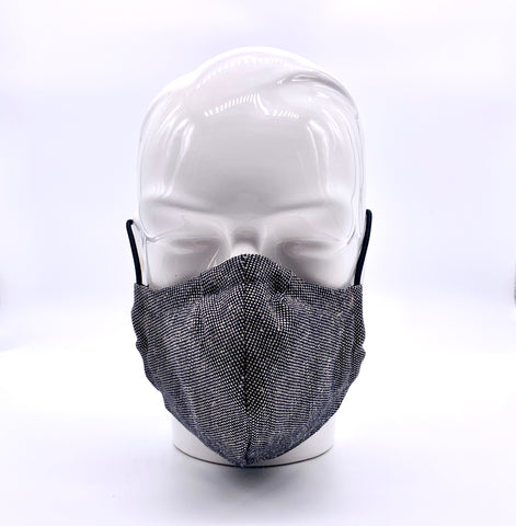 Grey denim mask