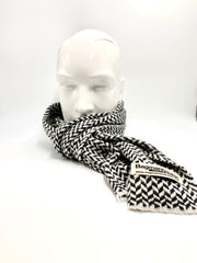 Grey and white Cashmere scarf