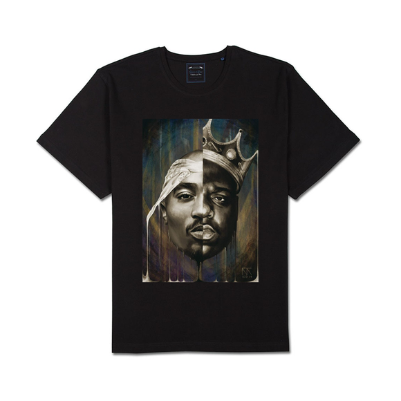 Tricou negru 2Pac and Big Notorious