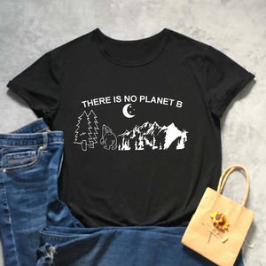 Tricou negru  feminin There is no planet B