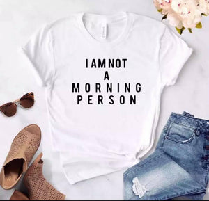 Tricou dama alb Morning Person