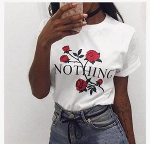 Tricou Alb Dama Nothing