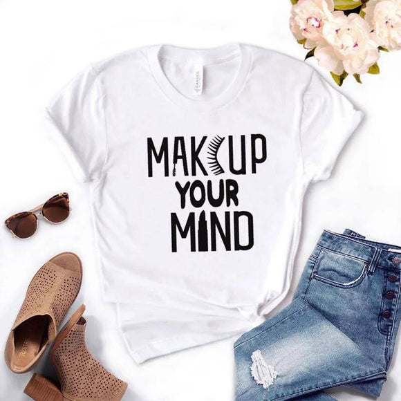 Tricou dama alb Make Up Your Mind