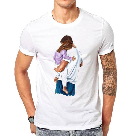 Tricou alb masculin Dad of Girl