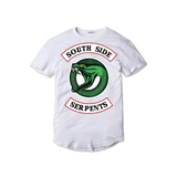 Tricou alb South Serpents - inKing.ro