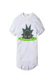 Tricou Alb Rick and Morty Teleport