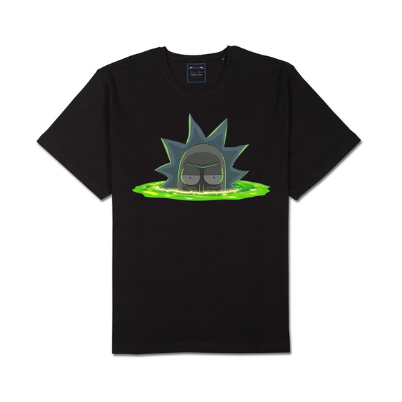 Tricou negru Rick and Morty Teleport