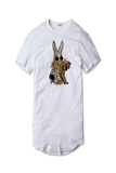 Tricou Alb Angry Bunny - inKing.ro