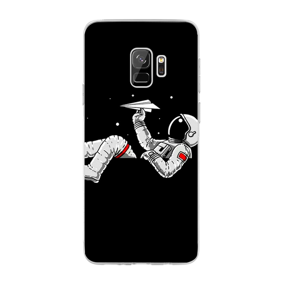 Husa Samsung Galaxy S9 Astronaut and airplane - inKing.ro