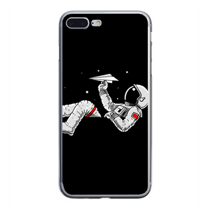 Husa iPhone 7 Plus Astronaut and airplane