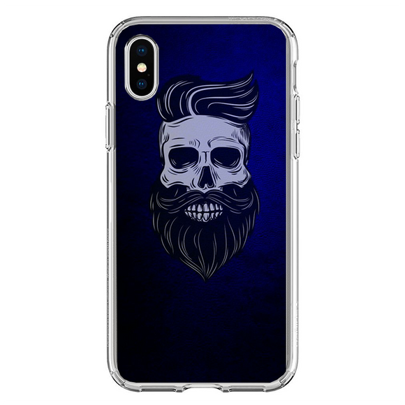 Husa iPhone X Barber Skull